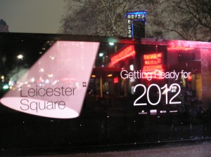 leicester square getting ready for 2012