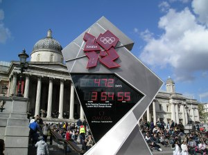 2012 olympic clock trafalgar square
