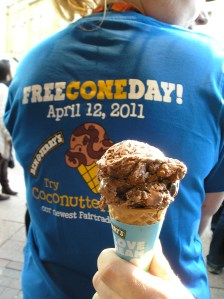 ben & jerry's ice-cream leicester square free cone day april 12