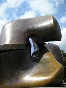 locking piece henry moore sculpture london
