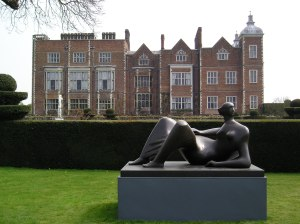 henry moore exhibition hatfield house, reclining figure angles