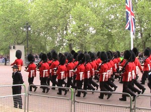 royal wedding soldiers marching by