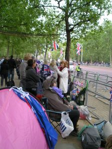royal wedding, crowds camping on the mall