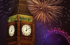 big ben and the new year fireworks