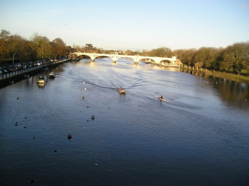 twickenham bridge & the river thames