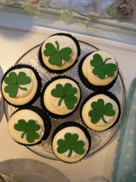St Patrick's Day cupcakes...Guiness flavour!!