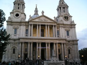 St Paul's Cathedral in the City of London where Sir Winston Churchill's funeral was held