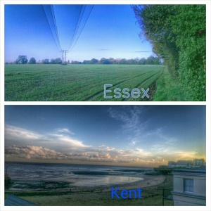 essex and kent counties of the uk
