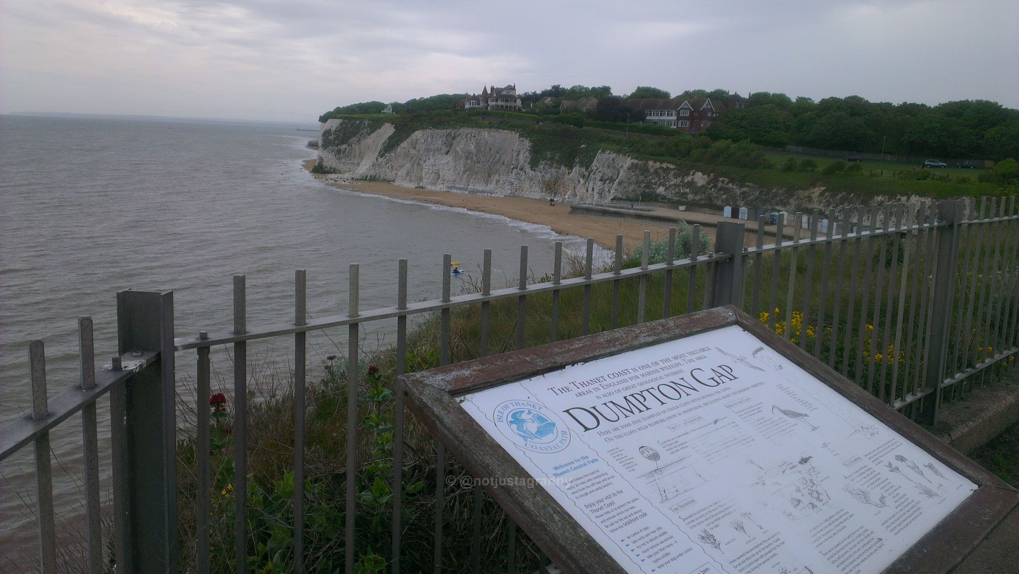 100 walks uk, walk 1000 miles, broadstairs to ramsgate, dumpton gap, isle of thanet