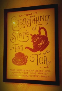 everything stops for tea