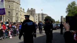 The Queen and Prince Philip arrive in the Bentley