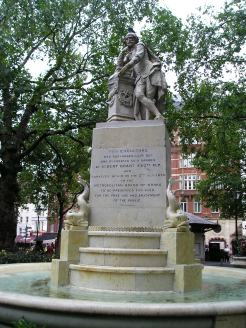 statue at Leicester Square