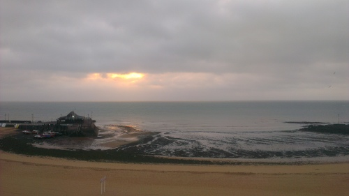 sunrise over Viking Bay, Broadstairs