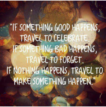 happy 15th anniversary Travel to make something happen