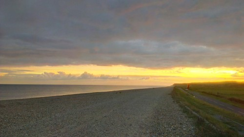 sunset at pett level road