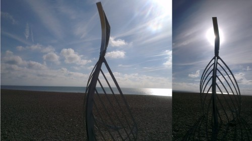 hastings, norman long boat sculpture, seaside towns of britain