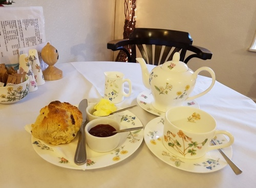 scones and tea at the Blue Bird Tearoom in Great Malvern