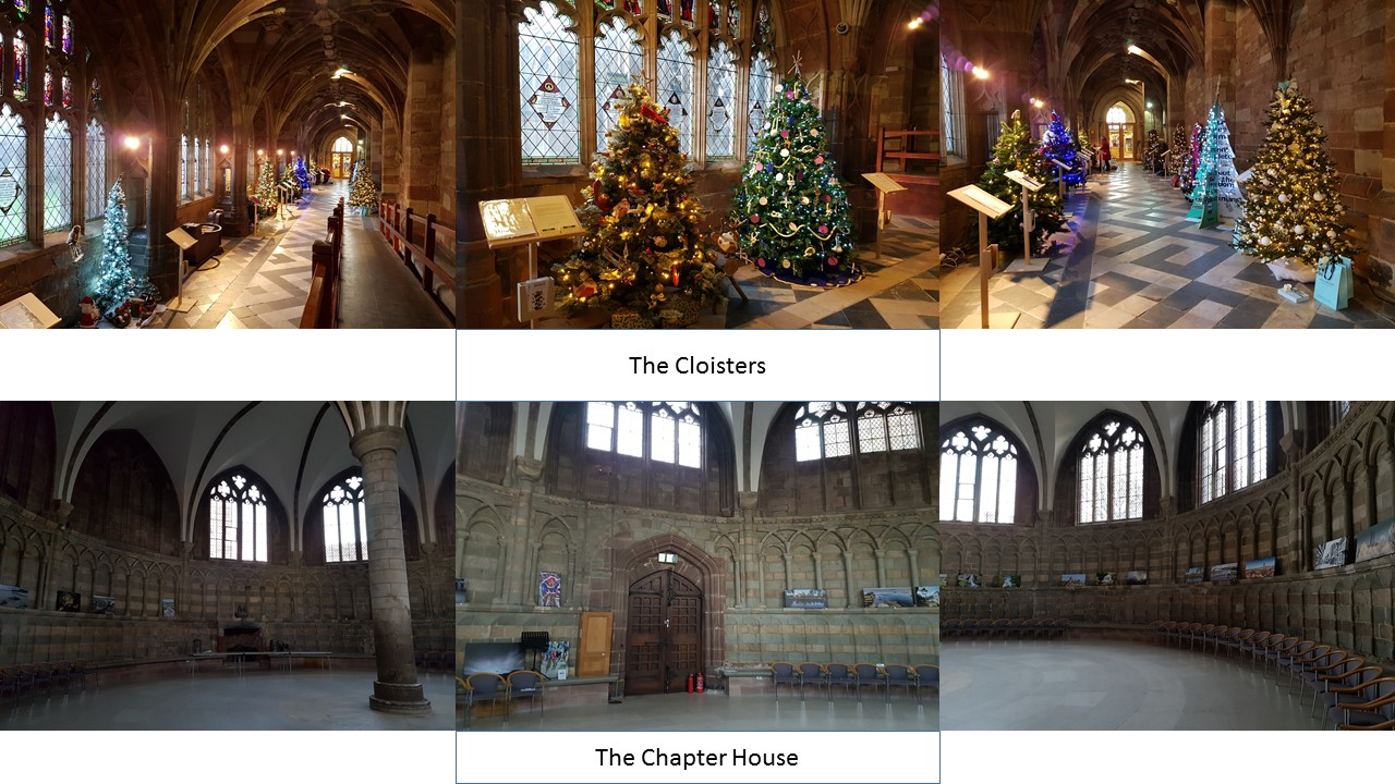 wandering the lanes of worcester, worcester cathedral cloister and chapter house