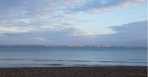 The Spinnaker in Portsmouth - across The Solent from Ryde, Isle of Wight