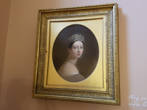 The young Queen Victoria at Kensington palace