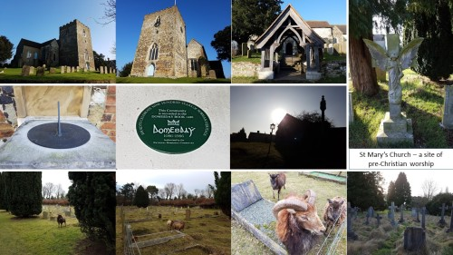st marys church oxted, domesday villages of england, pre-christian places of worship, saxon graves oxted