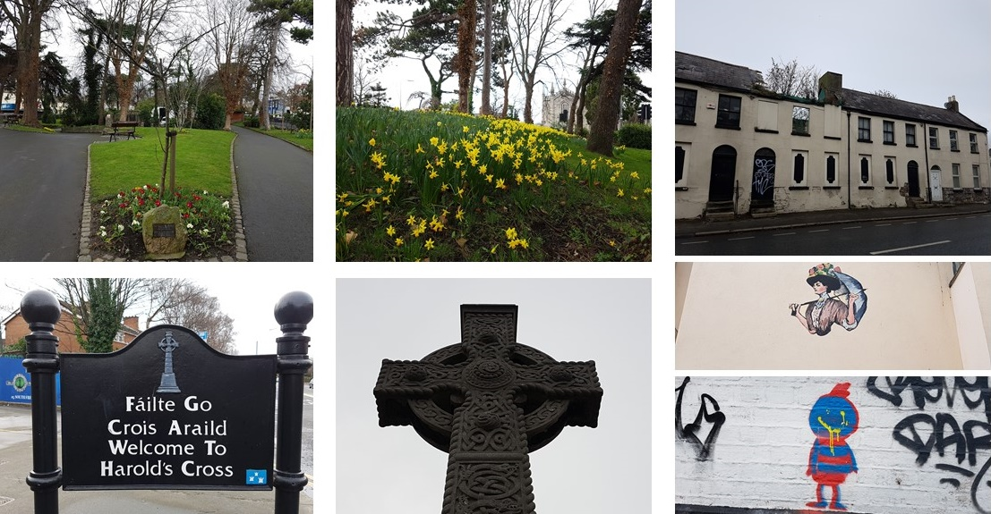 walking through the suburbs of Dublin