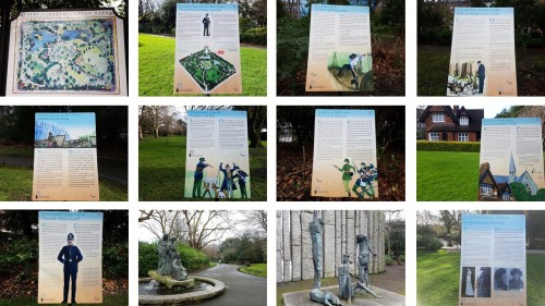 history boards in st stephens green dublin