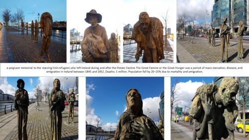 memorials in dublin, great potato famine