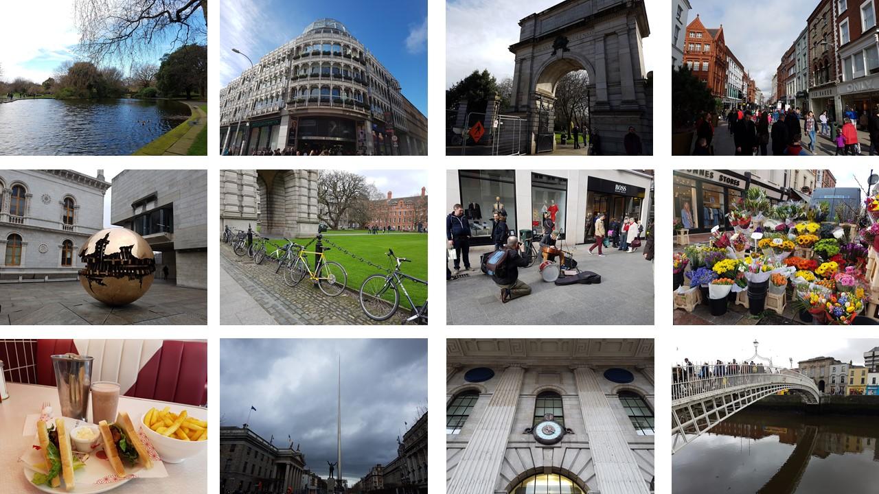 scenes of Dublin, Ireland