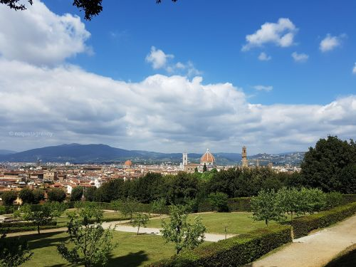 florence as seen from palazzo pitti