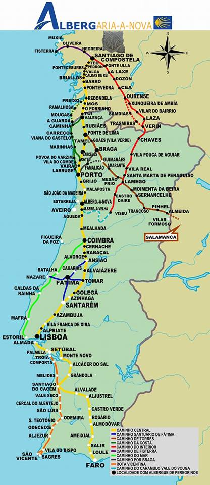 the portuguese route to santiago