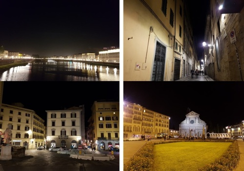 The River Arno, streets at night, my square, Chiesa Santa Maria Novella