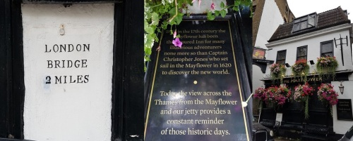 The Mayflower Pub in Rotherhithe and London Bridge 2 Miles
