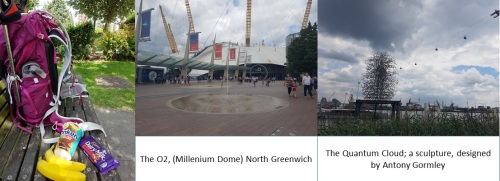 my lunch, O2 Millenium Dome North Greenwich and Quantum Cloud
