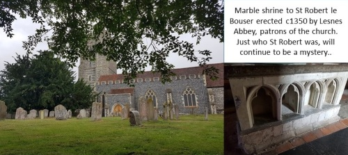 St Mary's Church, Newington and the tomb of St Robert.