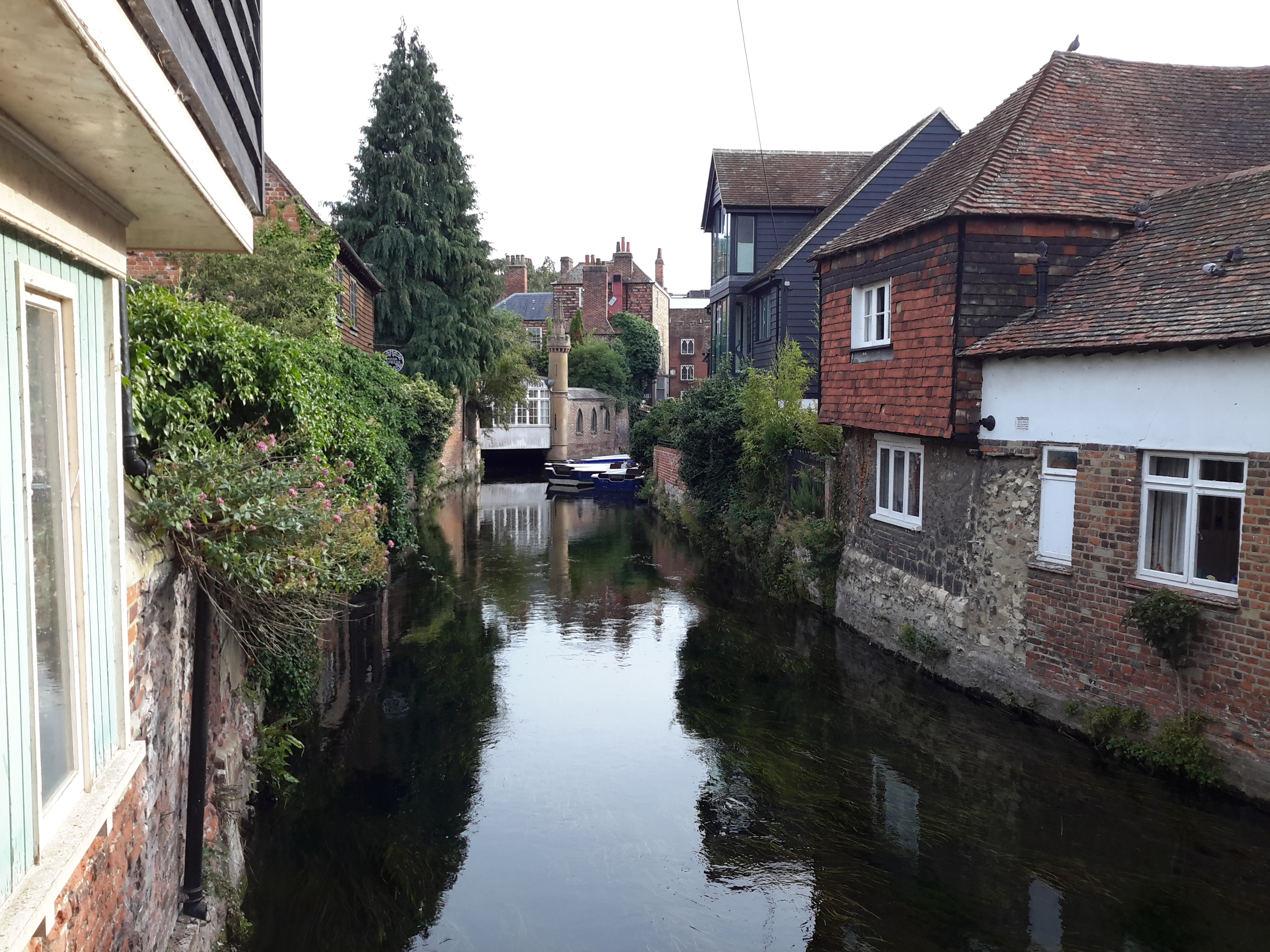The River Stour in Canterbury - looking towards the East Bridge