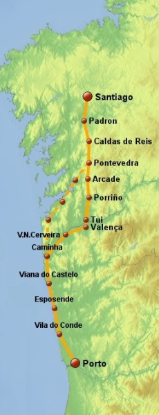 portuguese coastal route mapacoastal