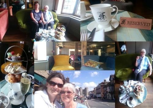 Arriving at Canterbury - Afternoon Cream Tea at The Falstaff Inn, Canterbury