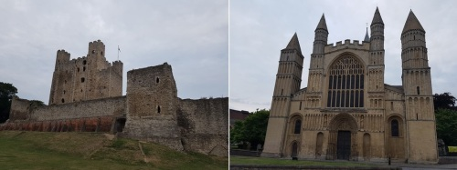 Rochester Castle and Rochester Cathedral