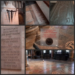 The shrine of Thomas Becket at Canterbury Cathedral