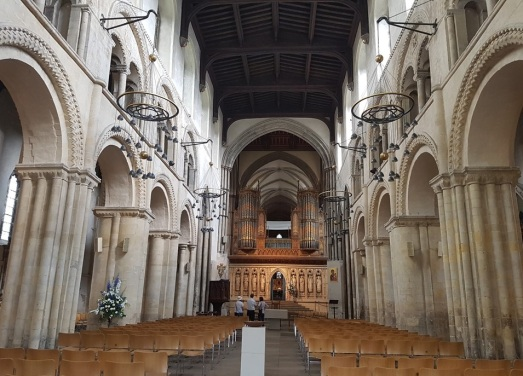 Rochester Cathedral; the interior of the cathedrals are designed to inspire and awe
