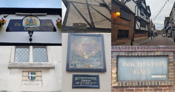 Rochester History; oldest pub in Kent, Restoration house, ancient streets, significant people