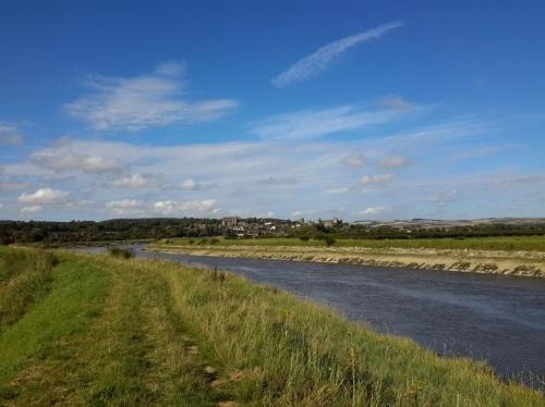 Looking back upstream towards Arundel Castle