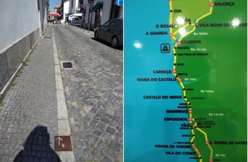 camino de santiago, portuguese coastal route porto to santiago, esposende