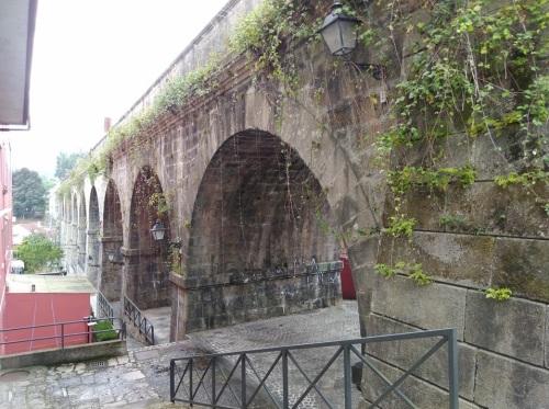 viaduct in redondela, camino de santiago, o porrino to arcade, walking the camino, portuguese coastal and central route,
