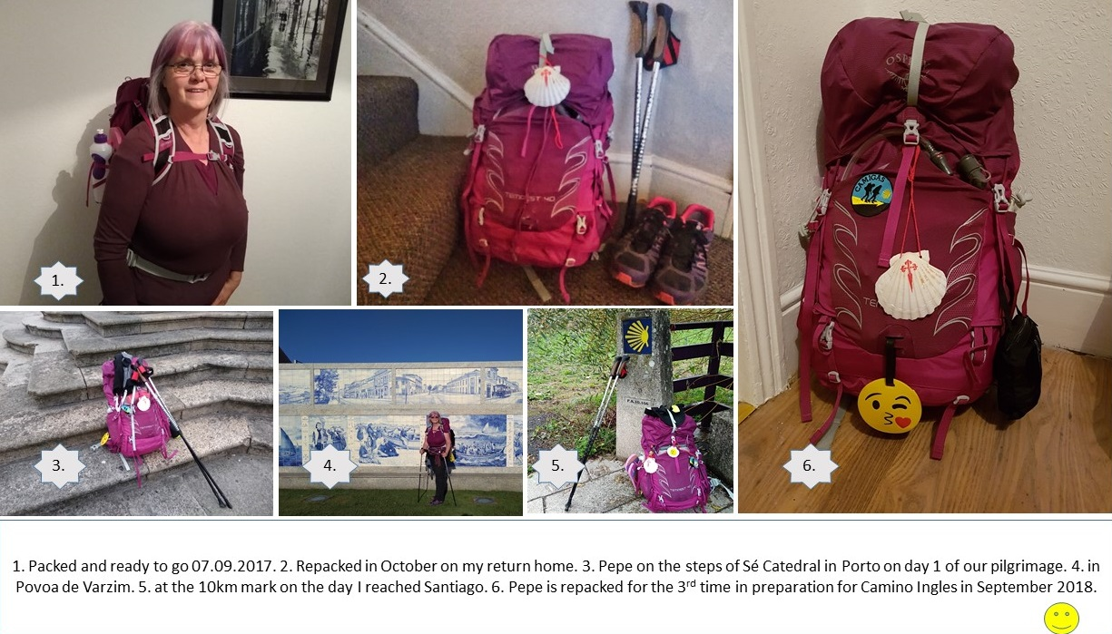 packing for the camino, camino de santiago, portuguese coastal route, solo travel for women over 60, walking over 60, preparing for the camino