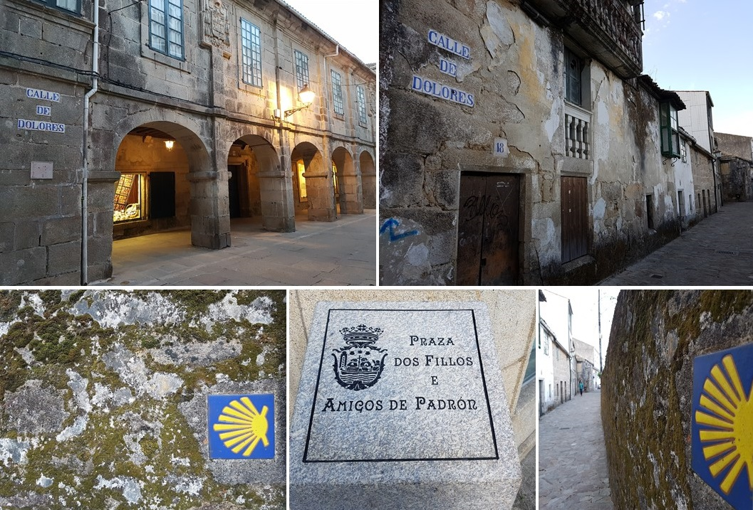 calle de dolores, pilgrims way to santiago, iglesia de santiago, padron galicia, camino de santiago, porto to santiago, portuguese camino, following the way of st james, pilgrimage to santiago