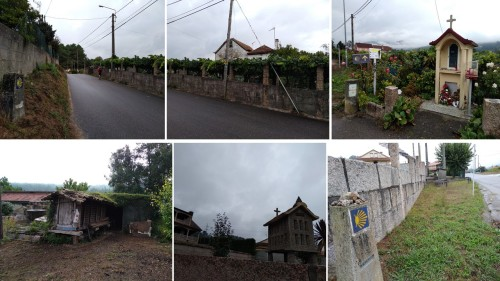 shrines on the camino, hórreos, o porrino to arcade on the portuguese camino, walking the camino, camino de santiago, porto to santiago, portuguese coastal route, portugues central route, the way of st james