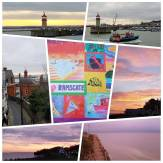 My #Camino2017 practice walk took me to Ramsgate today. When I set out the sky was a pale yellowish line on the horizon. By the time I reached Ramsgate it was turning to pink...very pretty. I took some photos and headed back along the coast....however...if I had stayed just 15 minutes longer I would have seen a most spectacular sunset..although I did catch a little of it when I looked back. Just gorgeous. #sunset #RamsgateRoyalHarbour #englishcoast #isleofthanet #seasidetownsofbritain #harbours #sunrise_sunset_aroundworld #mapmywalk