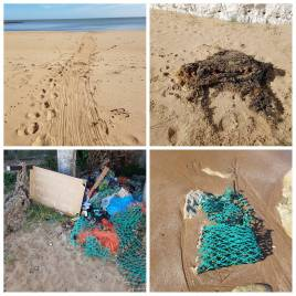 plastic pollution on the beaches of Thanet